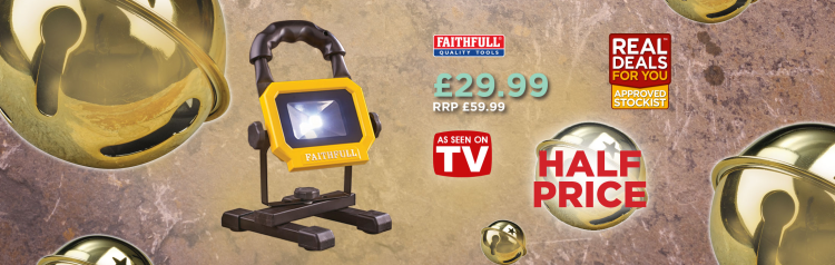 Faithfull Rechargeable Led Work Light With Magnetic Base - Real Deals For You 2016