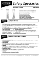 Instruction Manual for Draper Anti-mist Smoked Safety Spectacles With Uv Proection And Flexible Frame To En 03110 Ssp9uv