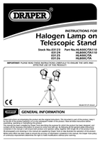 Instruction Manual for Draper 2 X 110v 400w Halogen Lamps on Telescopic Stand 03124 Hl800c/ta110