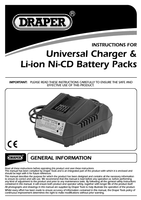 Instruction Manual for Draper Expert 18V 1.3Ah Li-Ion Battery Pack 03295 (CB18LI13)