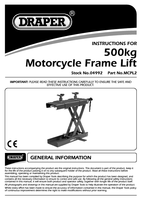 Instruction Manual for Draper Motorcycle Frame Scissor Lift 04992 Mcpl2