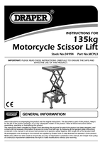Instruction Manual for Draper 135kg Off Road Motorcycle Scissor Lift 04994 Mcpl3