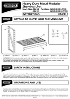 Instruction Manual for Draper Expert Heavy Duty Steel 4 Shelving Extension Unit - 1040 X 430 X 1830mm 05231 Msuhd104e/pro