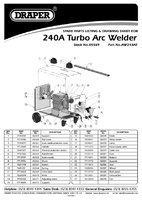 Parts List for Draper Expert 240a 230/400v Turbo Arc Welder 05569 Aw243at