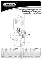 Parts List for Draper Expert 12v/24v 20a Battery Charger 05583 Bc30b