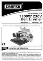 Instruction Manual for Draper 1500W 230V Belt Linisher 06791 (BL1500)