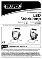 Instruction Manual for Draper 230v 45 Led Worklamp 07181 Wl45/led