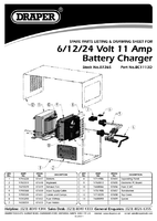 Parts List for Draper Expert 6/12/24V Battery Charger with Desulphation Facility 07265 (BC1113D)