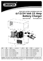 Parts List for Draper Expert 6/12/24V Battery Charger with Desulphation Facility 07266 (BC2213D)