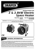 Instruction Manual for Draper 2.8kW 230V Space Heater 07571 (ESH2800B)