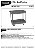 Instruction Manual for Draper 2 Tier Tool Trolley 07629 Ttb2