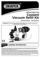Instruction Manual for Draper EXPERT UNIVERSAL COOLING SYSTEM VACUUM PURGE AND REFILL KIT 09544 CAV1