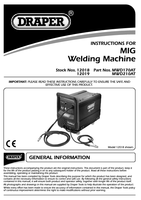 Instruction Manual for Draper 160a 230v Gas/gasless Turbo Mig Welder 12018 Mwd170at