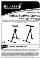 Instruction Manual for Draper 300mm Roller Stand 13886 Rst310