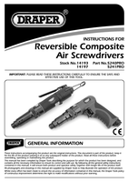 Instruction Manual for Draper Expert Composite Body In-line Air Screwdriver 14197 5241pro