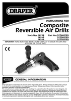 Instruction Manual for Draper Expert Composite Body Soft Grip Reversible Air Drill With 10mm Keyless Chuck 14258 5276k/pro