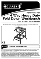 Instruction Manual for Draper 650mm 4 Way Fold Down Heavy Duty Workbench 18569 (HDMSWBY)
