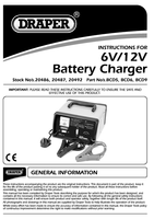 Instruction Manual for Draper 6/12V 5.6A Battery Charger 20487 (BCD6)