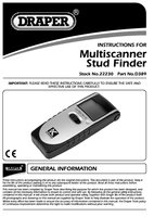 Instruction Manual for Draper Expert Combined Metal, Voltage And Stud Detector 22230 D389