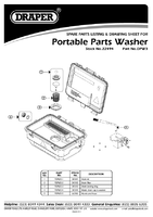 Parts List for Draper 230V Portable Parts Washer 22494 (DPW3)