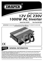 Instruction Manual for Draper 1000w Dc-ac Inverter 23245 In1000