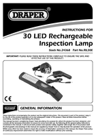 Instruction Manual for Draper Expert 30 LED Rechargeable Magnetic Inspection Lamp 24368 (RIL30E)