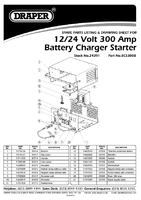 Parts List for Draper Expert 12/24V 300A Battery Starter/Charger 24391 (BCS300B)