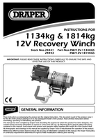 Instruction Manual for Draper Expert 1814kg 12V Recovery Winch 24443 (RW/12V-1814KGS)