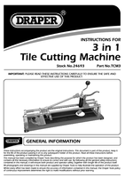 Instruction Manual for Draper Expert Manual 3 In 1 Tile Cutting Machine 24693 Tcm3