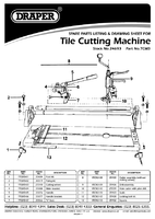 Parts List for Draper Expert Manual 3 In 1 Tile Cutting Machine 24693 Tcm3
