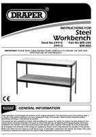 Instruction Manual for Draper Steel Workbench 24913 (WB1800)