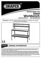 Instruction Manual for Draper Steel Workstation 24914 (WB1400)