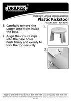 Instruction Manual for Draper Plastic Kickstool 25356 (PKS)