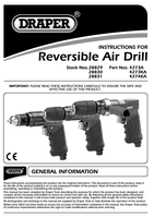 Instruction Manual for Draper Reversible Air Drill with 10mm Geared Chuck 28829 (4273A)