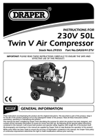 Instruction Manual for Draper 50L 230V 2.2kW Air Compressor 29355 (DA50/412TV)