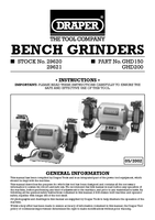 Instruction Manual for Draper 230v 150mm Heavy Duty Bench Grinder 29620 Ghd150