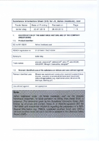 Material Safety Data Sheet for Draper 700g Bottle of Synthetic Grit 30595 A4289