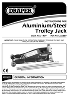 Instruction Manual for Draper 2.5 tonne Aluminium/Steel Trolley Jack with 'Quick Lift' Facility 31479 (TJAS250)