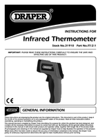 Instruction Manual for Draper Infrared Thermometer 31910 (IT12:1)