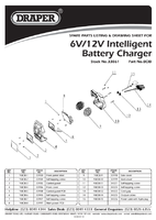 Parts List for Draper 6/12V Intelligent Battery Charger 33861 (BCIB)
