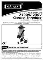 Instruction Manual for Draper 2400W 230V Garden Shredder 35900 (GS2402)