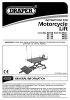 Instruction Manual for Draper 360kg Hydraulic Motorcycle Lift 37058 Mcl1