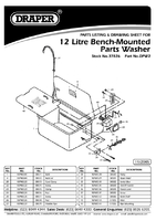 Parts List for Draper Bench Mounted Parts & Components Washer 37826 Dpw2