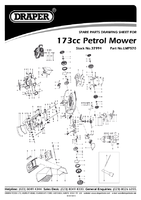 Parts List for Draper Expert 173cc (4.9hp) 560mm 3 In 1 Self Propelled Petrol Mower 37994 (Lmp570)