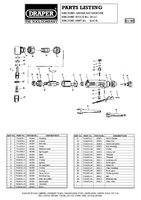 Parts List for Draper Air Angle Die Grinder 38147 4247a