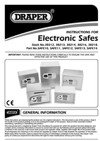 Instruction Manual for Draper 26l Electronic Safe 38216 (Safe13)