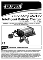 Instruction Manual for Draper 6/12v 6a Intelligent Battery Charger 38254 (ibc1)