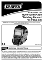 Instruction Manual for Draper Solar Powered Auto-varioshade Welding And Grinding Helmet-flame 38392 (Wgh4)