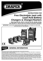 Instruction Manual for Draper 230v Battery Charger / Starter With Trolley 40180 Bcs350t