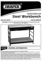 Instruction Manual for Draper Steel Workbench 40940 Wb1220